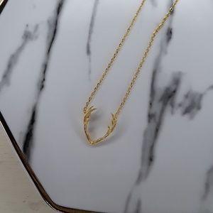 Antler pendant necklace.